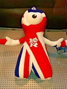 Wenlock Union Flag Soft Toy / Special Edition Olympic Mascot 2012 With Tag