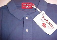Tejas Yacht Club 100% Pima Cotton Yachtsman Navy Blue Polo Shirt 2XL New NWT
