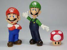 Super Mario bros. Mario Luigi 1up mushroom figure 3pcs set Nintendo 2004 Japan
