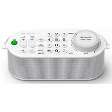 Sony SRSLSR100 Wireless Handy TV Speaker With Remote and Voice Zoom - White