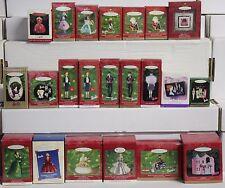 Barbie Hallmark Keepsake Holiday Christmas Tree Ornaments 22pc