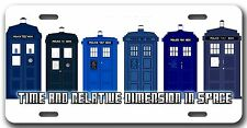 L@@K! Dr Who Tardis   - Car Vanity Tag  - License Plate *The Doctor*  Whovian