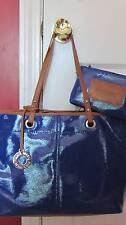 NINE WEST One Stop Shopper Blue Tote Handbag Sz Large  -  NWT $89