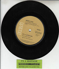 "BONNIE TYLER  It's A Heartache  7"" 45 rpm vinyl record + juke box title strip"