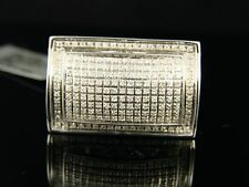 Mens White Gold Finish Pinky Si Diamond Ring .65 Ct