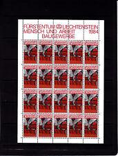 Liechtenstein Series courantes l'homme et le travail 1f r feuille 20 TP n° 799