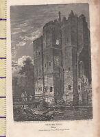 1806 Antik Klein Georgianisch Aufdruck ~ Nether Hall~