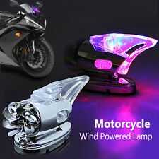 Motorcycle Auto Scooter Wind Powered Decor LED Light Shark Fin Decorative New