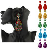 Women New Geometric Star Acrylic Waterdrop Dangle Drop Stud Earrings Jewelry Pre