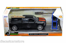 JADA JUST TRUCKS 2014 CHEVROLET SILVERADO WITH EXTRA WHEELS 1/24 CAR 97690