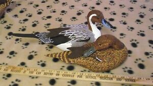 Pintail Pair of Decoys Ralph Malpage Signed Demo Sized, Vintage