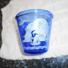 Hazel Atlas Cobalt Ritz Blue Small Ice Bucket Windmills Pattern