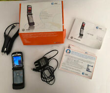 Motorola Motorazr V3 Cellphone in box +charger+more -Vg condition pre-owned Blk