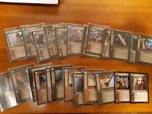 LOTR TCG Lot of 25 FOIL cards Rare, Common, Uncommon, Premium
