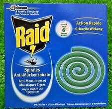 (5,21€/100g)  Raid Anti Mücken Spirale Mückenspirale Mückenschutz gratis Versand