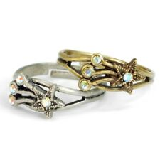 SWEET ROMANCE SET OF 2 SHOOTING STAR ADJUSTABLE TOE / FINGER RINGS~~MADE IN USA~