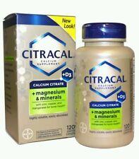 Citracal Calcium Supplement + Magnesium & Minerals 120 Coated Caplets  No box