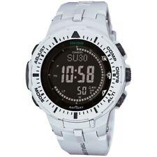 Casio Pro-Trek PRG-300-7D Triple Sensor Solar Off-White Resin Mens Watch PRG-300