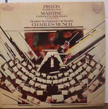 Charles Munch Boston Symphony Piston / Martinu 33RPM AGL1-3794  012217LLE