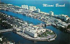 North Beach Hotel Row St. Francis Hospital Miami Aerial View Florida FL Postcard