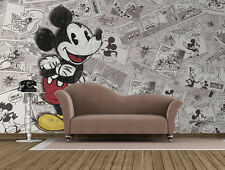 Giant paper wallpaper 368x254cm Mickey Mouse Disney wall mural for kids room