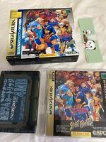 Sega Saturn X-Men vs Street Fighter 4MG RAM F/S USED Japanese import SS game sat