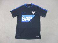 Nike Inter Milan Jersey Adult Medium Black Blue Soccer Futbol Drifit Mens