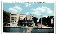Early 1900s Scenes at Mendota Yacht Club, Madison, WI Postcard