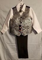 Boy's Phat Farm 4 Pieces Suit Set NW Tags Size 8 Shirt, pants, vest, bow tie