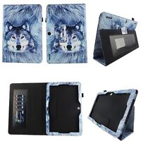 Greyish Wolf Fit for Insignia Flex 10.1 Inch Tablet Case Cover ID Slots