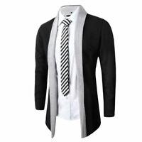 Coat Long Sleeve Knitted Fashion Cardigan Men Casual Sweater Jacket Slim Stylish