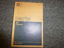 Caterpillar Cat D3 Crawler Tractor Dozer Parts Catalog Manual S/N 79U1-79U4708