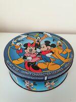 Vintage Food Tins Disney Character Cookie Retro Collectors Item Rustic Condition