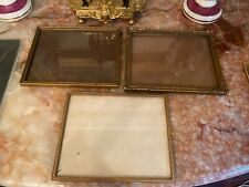 Set Of 3 Vintage Gold Gilt Frames Glass
