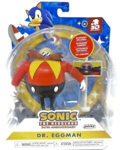 "⭐️ Sonic The Hedgehog 30th Anniversary Figure ""4"" Jakks DR EGGMAN Toy RARE NEW!"