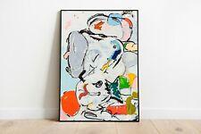 Cowboy Town Study - Eddie Martinez Art Print, Pop Art Print, Abstract Art Print,