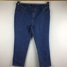 Denim 24/7 Womens Plus Size 22W Blue Jeans Slim Skinny Pants Medium Wash