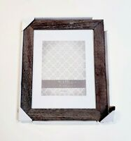 Malden International Rustic Weathered Wood Photo Frame For 8x10 or 11x14 Picture