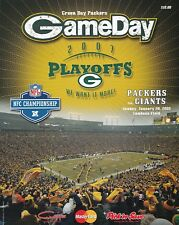 Green Bay Packers vs New York Giants 2008 football NFC playoff program