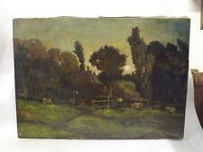 Antico quadro dipinto olio su tela Carlo Follini (1848 1938) pittore Italiano