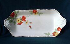 CROWN DUCAL SCARLET GLORY SERVING PLATTER ART DECO IRONSTONE CHINA SANDWICH TRAY