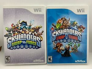Lot of 24 Skylanders Adventure figures+ 2 Portals +2 Wii Games + 7 Traps + case