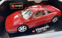 Ferrari 348 tb diecast model sports road car red 1989 1:18th scale Burago 3039