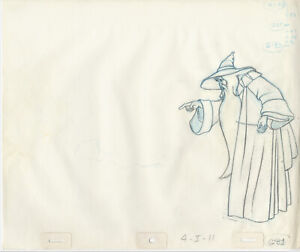 THE LORD OF THE RINGS: ORIGINAL BAKSHI PROD ANIMATION DRAWINGS w/ Free Autograph