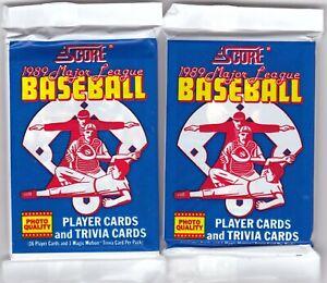 1989 Score TWO(2) Unopened Packs.