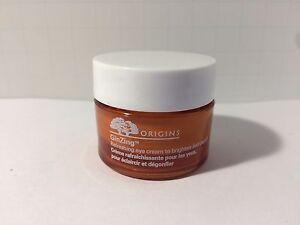Origins GinZing Refreshing Eye Cream to brighten depuff .5 oz/15ml  Full Size