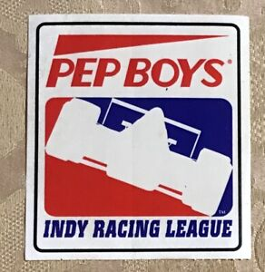 "Pep Boys Indy Racing League Sticker #ST7 3 1/2 X 4"" Free Ship"