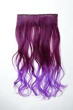 Extension cheveux Clip-In 5 clip bouclée bicolore Ombre Violet 50cm lang