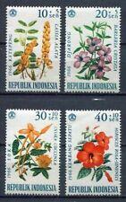 38201) INDONESIA 1966 MNH** Flowers 4v