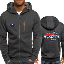 Washington Capitals Fans Hoodie Full-zip Jacket Sweatshirt Autumn Sport Coat Top